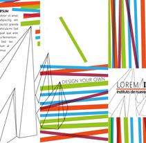 Tríptico, ejemplo de identidad creativa para empresa. Um projeto de Design, Br, ing e Identidade e Design gráfico de Natalia Beato Pérez         - 20.07.2015
