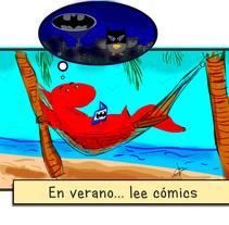 Cartel de vacaciones de tienda de cómics. Un proyecto de Ilustración y Comic de Isaw         - 01.08.2015