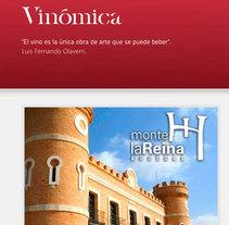 Vinómica Distribuidores. A Web Design project by Adelaida Castro Navarrete - Mar 18 2014 12:00 AM