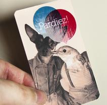 ::: Estudio Pardiez! ::: Tarjeta visita, barniz uvi. // Business card, uv varnishing.. Un proyecto de Br, ing e Identidad y Diseño gráfico de Sara pdf         - 31.08.2010