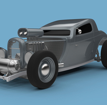 Hot Rod 3D. A 3D, Art Direction, and Automotive Design project by Yolanda Afán         - 29.06.2015