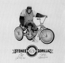 STONES & GORILLAZ COVER. A Design, Illustration, Music, Audio, Br, ing&Identit project by Lalo Garcia         - 30.07.2015