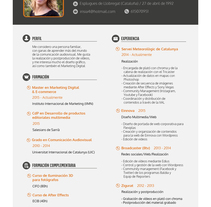 Curriculum Vitae. A Design, Design Management, and Graphic Design project by Iris Álvarez Farell - 09-12-2016