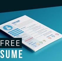 Free resume template. Um projeto de Design, Br, ing e Identidade, Design editorial e Design gráfico de David Gómez Collí - 04-08-2015