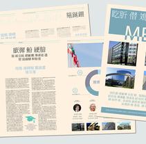 """Colaboración con """"The Report"""". Um projeto de Design editorial de Rocío Córdoba - 06-08-2015"""
