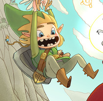 Link (Zelda). A Illustration, and Fine Art project by Marco Francés Grau         - 16.08.2015
