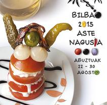 Cartel semana grande Bilbao 2015. A Design project by Jorge de la Fuente Fernández         - 23.08.2015