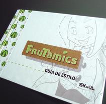 FRUTAMICS - Ilustración - Guía de estilo. Um projeto de Ilustração, 3D, Br, ing e Identidade e Design de personagens de Silvia Fernández-Pacheco         - 17.09.2014