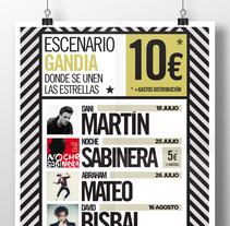 Escenario Gandia. Um projeto de Publicidade, Br, ing e Identidade, Design gráfico e Marketing de Diego Equis De         - 07.03.2014