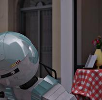 RobotGR15. Um projeto de 3D, Arquitetura e Design de personagens de Miguel Ángel Jiménez         - 07.04.2015