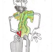 Ilustración  |  Autolibrujo  |  Proyecto Librujos    . A Illustration project by Demian  Abrayas - 30-04-2013