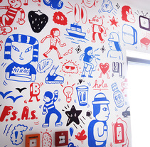 Mural en Anne Sophie. A Fine Art, and Graphic Design project by Pablo ientile - Sep 22 2015 12:00 AM
