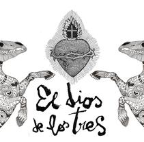 Banner publicitario para el Dios de los Tres. A Illustration project by Javier Navarro Romero         - 22.09.2015