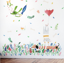Wall Mural - Wall Ideas -  Kid's Room Walls . A Illustration, Fine Art, and Painting project by eva escoms estarlich         - 23.09.2015