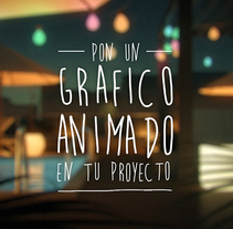 Pon un gráfico animado. A Motion Graphics, Film, Video, TV, 3D, Animation, and Post-Production project by David Cobos - 27-09-2015