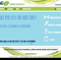 Desarrollo web Dieting.es. A Web Development project by Alicia Guallar Gimeno          - 22.08.2015
