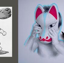 Cabecera para RR.SS. Inspirado en Inari (mitología japonesa).. Un proyecto de Ilustración de Pablo Burgueño López - 01-10-2015