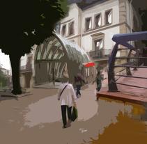 Ayuntamiento de Sestao y boca del metro. Un proyecto de Diseño, Fotografía y Diseño gráfico de Juan Francisco (John) Escudero Guerra         - 04.10.2015