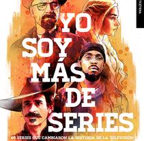 """Portada """"Yo soy más de series"""". Un proyecto de Diseño e Ilustración de Oscar Giménez         - 12.10.2015"""