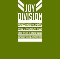 Cartel para la proyección de un documental de Joy Division.. A Graphic Design project by Uri          - 14.10.2015