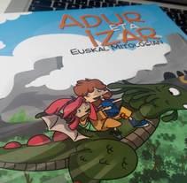 Ilustraciones para libro infantil Adur eta Izar. Um projeto de Ilustração e Design gráfico de Yago Roselló Lozano - 30-11-2014