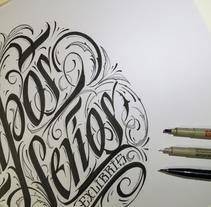 Mi Proyecto del curso Caligrafía para un Ex libris. A Calligraph project by sergio ardura vazquez - 21-10-2015