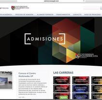 ADMISIONES UP. A Web Design project by Juan Pablo Calderón Preciado - 18-07-2012