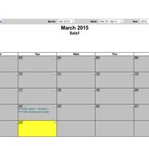 Calendario local Tactiva. Um projeto de Desenvolvimento de software e Desenvolvimento Web de Gema R. Yanguas Almazán         - 14.03.2015