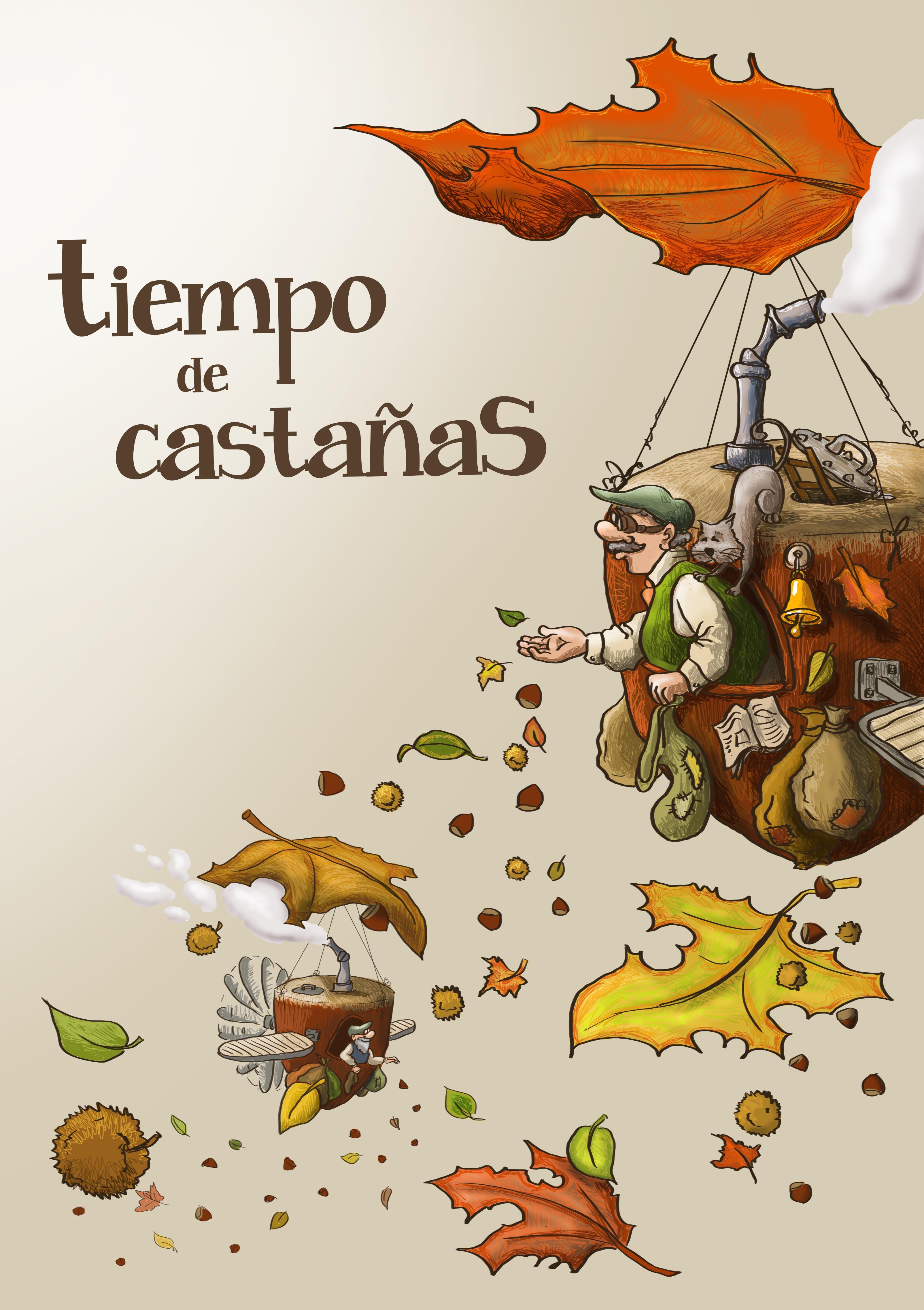 Ilustraci n para cartel tiempo de casta as domestika - Castanas cocidas tiempo ...