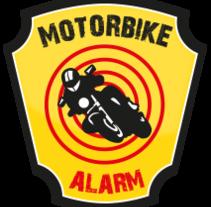 Logo App Motorbike Alarm. Estilo Ruta66. Un proyecto de Diseño gráfico de María Gutiérrez - 10-04-2014