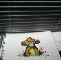 Simba Watercolor . A Fine Art project by david martínez pérez - 03-11-2015