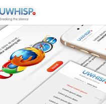 Creación de imagen gráfica para uwhisp . Um projeto de Design, Design gráfico, Design interativo e Web design de victorcarba         - 10.11.2015