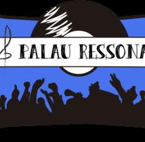 """Logotipo para el Concurso de Música Jove """"Palau Ressona"""" I Premio Concurso de Diseño.. A Design, Illustration, Advertising, Br, ing, Identit, Design Management, Events, Graphic Design, and Marketing project by Laura García         - 12.11.2015"""