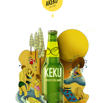 Cerveza Keku by Ana Poncela Martínez. A Graphic Design project by Ana Poncela Martínez         - 12.03.2016