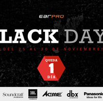 Diseño mailing BlackDays d'Earpro. A Web Design project by Jaume Turon Auladell         - 24.11.2015