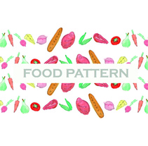 Food Pattern. A Design, Cooking, Graphic Design, Packaging, and Product Design project by Jumps Rabbit         - 27.11.2015