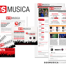SOSMUSICA | Crowdfunding Musical - Dirección Creativa / Arte / Project Manager . A Advertising, Art Direction, Marketing, and Web Design project by Sergi Vidal Paris         - 02.12.2015