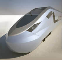 Modeling - Hogh speed train. A 3D&Industrial Design project by Alex Echard         - 03.12.2015