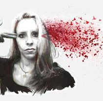 Kill those fucking thoughts and learn to flyNuevo proyecto. Un proyecto de Ilustración y Bellas Artes de Mentiradeloro Esther Cuesta - 04-12-2015