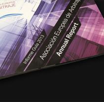 Annual report 2013 - AEADE. Un proyecto de Diseño gráfico de Ahinoa Erlanz Parada         - 05.12.2015
