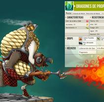 Dragones P. Un proyecto de Ilustración y Diseño de personajes de Oscar Garcia         - 06.12.2015