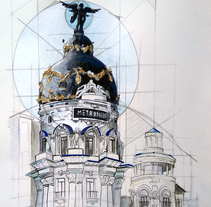 metrópolis madrid. A Illustration project by Cristina Muñoz Lázaro - 24-11-2015