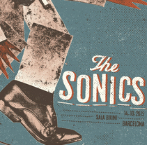 The Sonics poster. A Design, Illustration, and Screen-printing project by Münster Studio         - 09.12.2015
