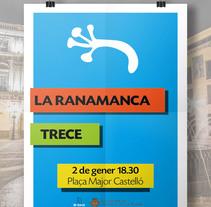 Cartel concierto /  LA RANAMANCA + TRECE A CASTELLÓ. A Design, and Graphic Design project by Miquel Andrés Sànchez - 02-01-2016