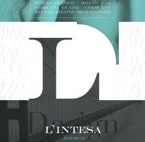 L'Intesa. Un proyecto de Diseño, Br, ing e Identidad, Diseño editorial y Diseño gráfico de Víctor  de Vicente - 04-01-2016