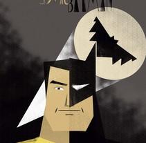 Bruce/Batman. Un proyecto de Ilustración de Tina Tamay - 05-01-2016
