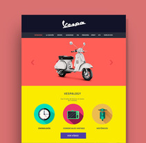 Vespa - Diseño web. A Web Design project by Diana Sánchez         - 09.01.2016