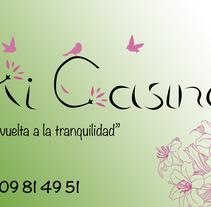 "Logotipo Casa rural ""Mi Casina"". A Graphic Design project by Christian Fernandez Campos         - 10.10.2015"