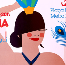 Ilustraciones  para cartel y web Flea Market  Barcelona.. A Illustration, Character Design, T, and pograph project by Marina Stecca         - 18.07.2016