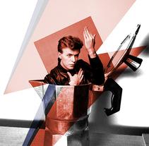 Póster David Bowie. Un proyecto de Diseño gráfico de Domnina VS         - 10.01.2016